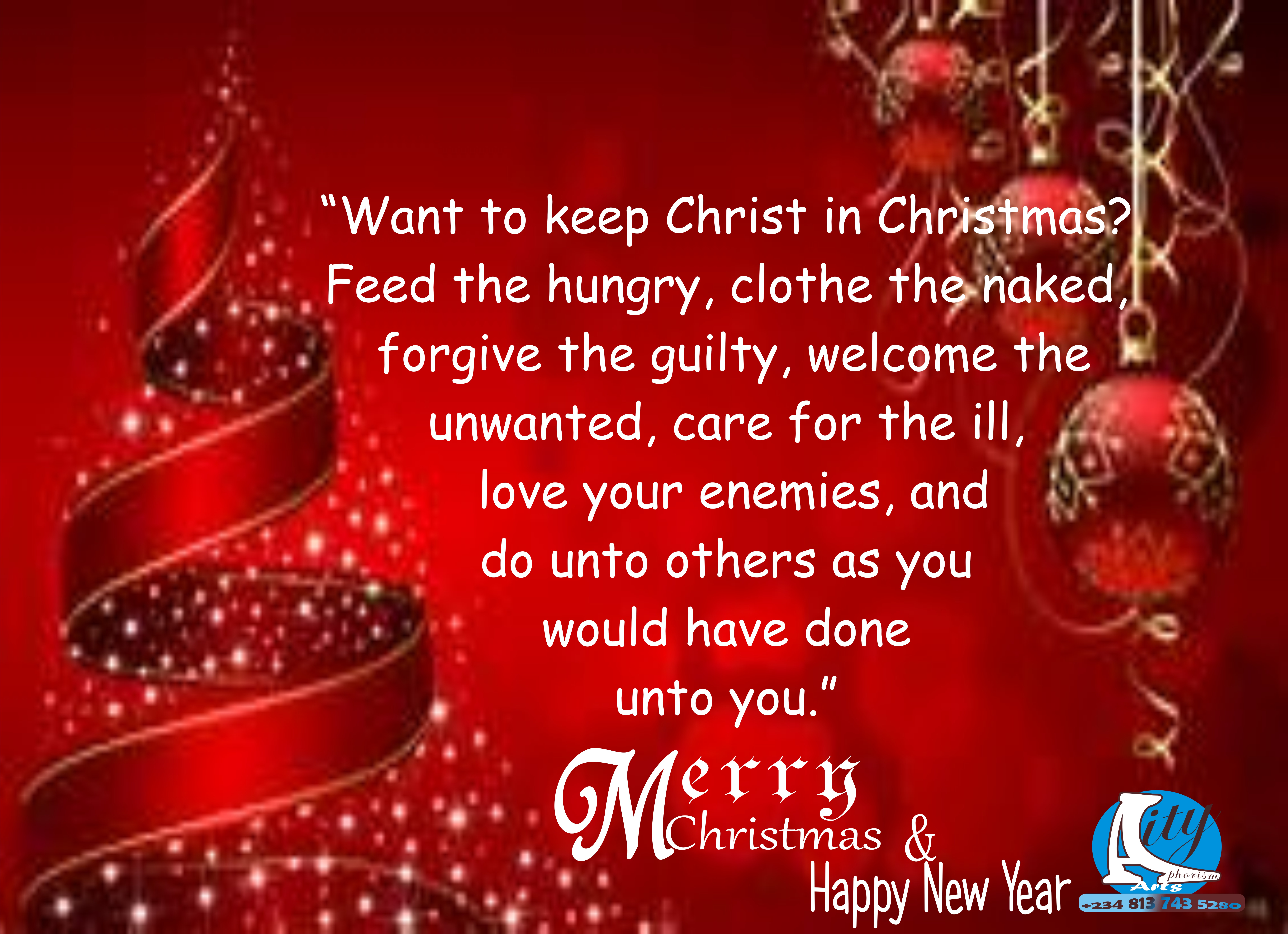 QUOTE: WANT TO KEEP CHRIST IN CHRISTMAS? – Aphorism CITY